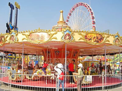 24 persons outdoor merry go round