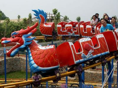 Amusement Park Children Game Roller Coaster Slide Dragon