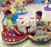 Animal kiddie bumper car ride