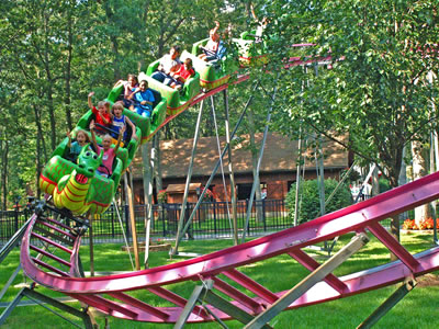 Beston outdoor green dragon roller coaster