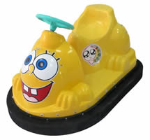 Cartoon kids bumper cars