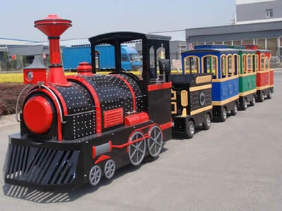 Wonderful outdoor tourist trackless train
