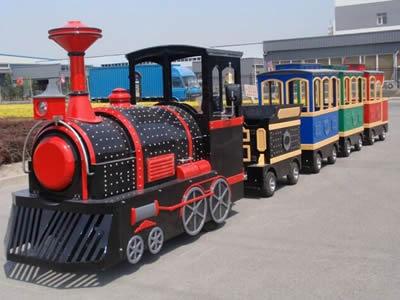 Wonderful outdoor tourist trackless train