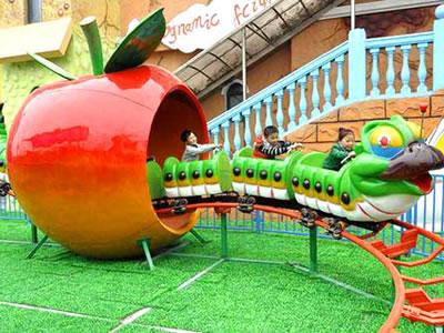 fruit worm mini roller coaster