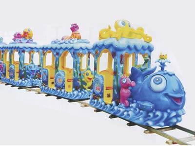 ocean theme shark train ride for kids