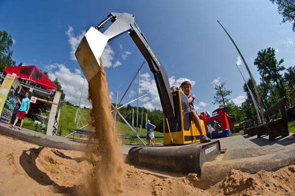 Beston sandpit diggers for children in amusement park