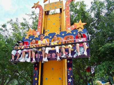 Mini star free fall drop ride for children