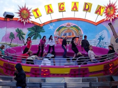 Tagada disco funfair ride
