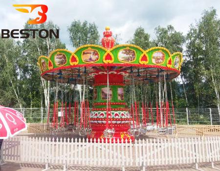 Аттракцион цепочная карусель в парке России