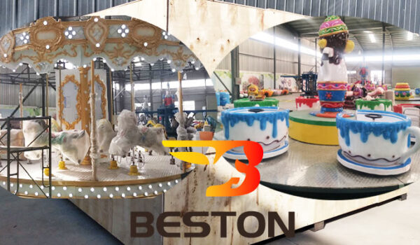 Beston Аттракцион карусель и чашки отгрузили в Казахстан