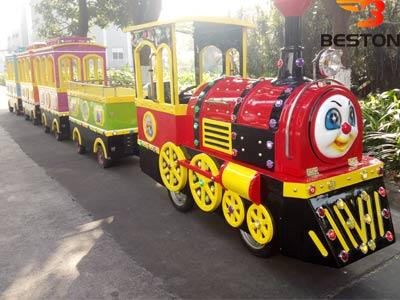 Аттракцион мини поезд на колесах