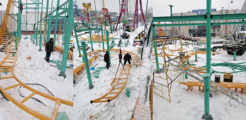 Beston Аттракцион Американские горки для семей установлен в парке России